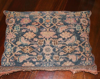 Vintage Mid Century / Hollywood Regency/ Bohemian Antique Large Persian Rug Pillow