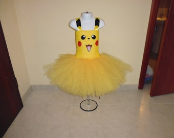 Pikachu Inspired tutu dress