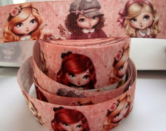 1'' -  25 mm Girls Grosgrain Ribbon
