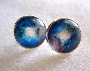 Nebula Cabochon Post Earrings