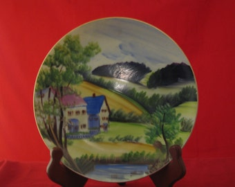 Hand painted Japan collector plate
