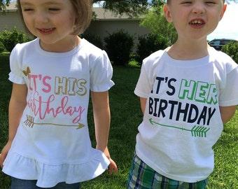 Twins Matching Birthday Shirts