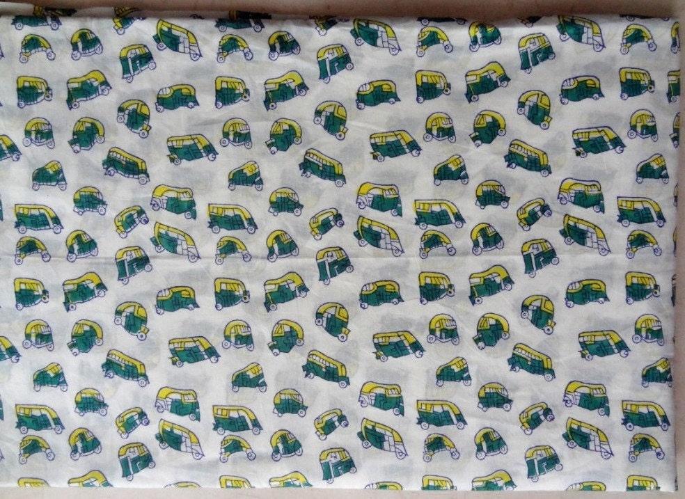 Tuk tuk print fabric by yard kids clothing indian fabric for Kids print fabric
