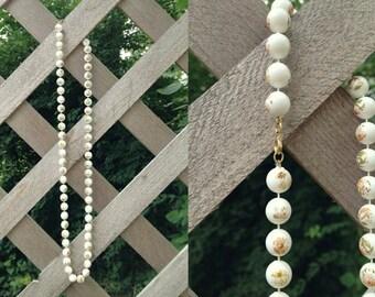 Floral Bead Necklace. Floral Beads. Bead Necklace. Vintage Beads. Vintage Necklace.