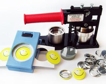 """Tecre Model #150 1-1/2"""" 1.5"""" Button Maker Machine, EK Success Punch, 500 Pin Back Button Parts"""
