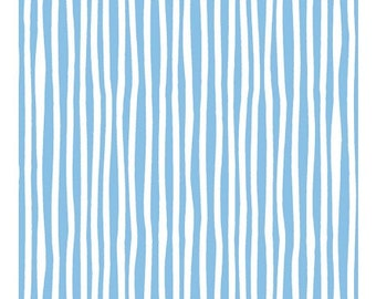 Baby Gone Wild- Blue Stripe, Fabric by the Yard