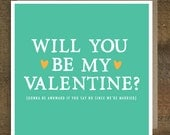 Funny Valentine's Card - Card for husband - Card for wife - Married Valentine