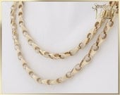 """GIA ~ 3500.00 ~ Vintage ~ Solid Link Heavy Italian 30"""" Chain ~ 14K Yellow Gold ~ 14K Lobster Clasp ~ 44.5 Grams ~ Dk16089"""