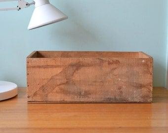 Vintage old wooden crate box storage