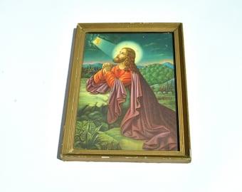 Jesus Christ Icon, Christian Religious Icon Print, Orthodox Antique, Baptismal Gift, Gift for Godparents, Jesus Art, Catholic Decor