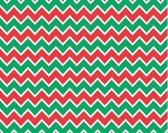 Red, green and white chevron craft  vinyl sheet - HTV or Adhesive Vinyl -  zig zag pattern Christmas HTV185