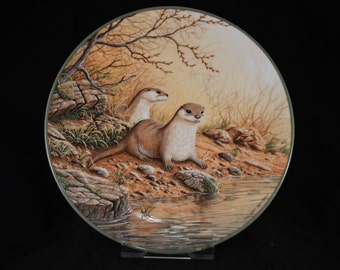 ROYAL DOULTON 'Otter Pair on a River Bank'  Collector's Plate
