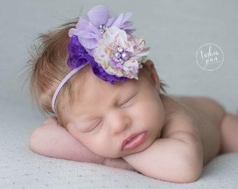 Lavender headband, purple headband, light purple headband, pastel headband, Easter headband, spring time headband, lavender baby headband