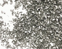 Metallic Silver Confetti Sprinkles Biodegradable EcoFriendly Inside My Nest (1 Cup)