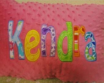 Child name pillow, KENDRA, sale.