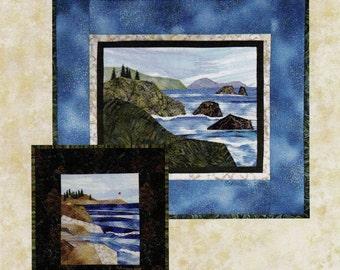 COASTLINES  -  #6 in the Accidental Landscape Series   By: Quilted Lizard - Karen Eckmeier