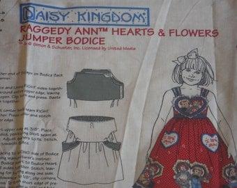 DAISY KINGDOM Raggedy Ann Hearts & Flowers Jumper Bodice