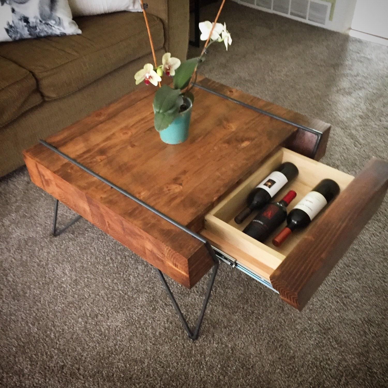 Modern Block Coffee Table With Hidden Storage