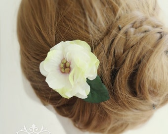 Bridesmaid hair accessory, set of 3, bridesmaid hair clip, wedding hair accessory, Camellia hair accessory, Bridal hair accessory
