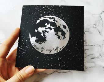 Game of Thrones Card / Moon of my Life / Silver Foil Print / Moon Art / Card for Boyfriend / Card for Girlfriend / Gifts for Partner / GOT