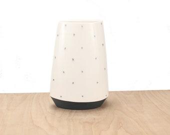 slip-cast porcelain pattern vase