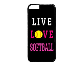 Cute Softball Quote Case Cover for iPhone 4 4s 5 5s  5C 6 6s 6 Plus 7 7 Plus iPod Touch 4 5 6 case Cover
