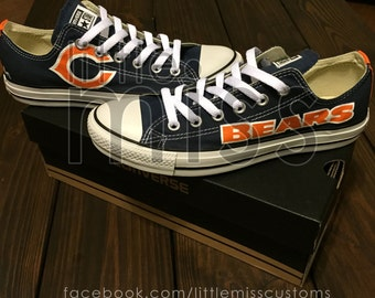 Chicago Bears Hand Painted Converse