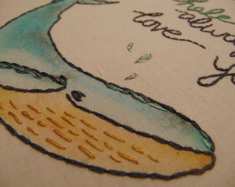 I whale always love you // Embroider