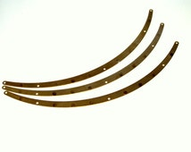 15 pcs Raw Brass 155 x 6 mm collar finding 5 hole connector Charms ,Findings 398R5