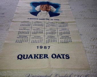 Quaker Oats Vintage Tea Towel 1987 Unused