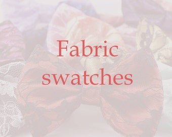 Fabric swatches, colour samples, fabric colour swatches for made-to-order items