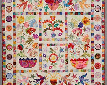FLOWER POT Pattern by Kim McLean - Appliqué