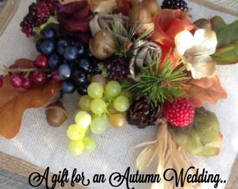 Wedding photo album. Autumn wedding gift.