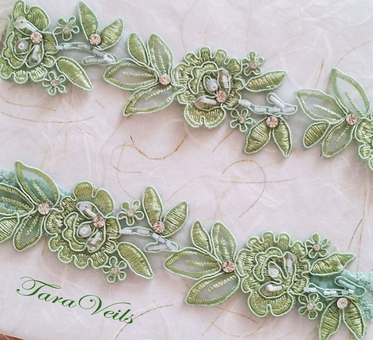 Tradition Of Wedding Garter: Wedding Garter SetGreen GarterRhinestone Green Garter Light
