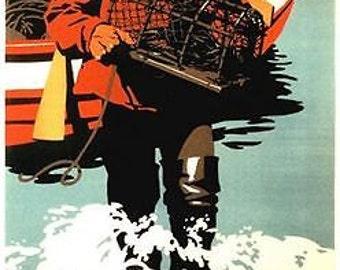 Vintage LNER East Coast Types Lobsterman Railway Poster A3/A2 Print