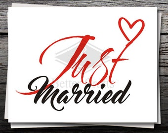 Just Married Svg Etsy