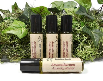 Aromatherapy Anxiety Relief, Essential Oil Therapy, Natural Anxiety Remedy, Vegan Stress Relief, Gift under 10