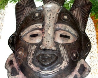 African Hand Crafted Tribal Mask made in Ghana