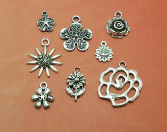 Flower Charms, Flower Charm Collection (1-1281)