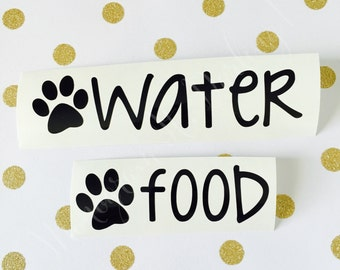 Food and Water Bowl Pet Decals