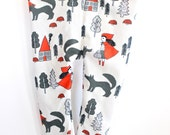 Baby and Toddler Leggings- Red Riding Hood/Little Red Riding Hood/Wolf Leggings/Forest Scene