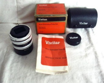 Vivitar AT-4 Auto Extension Tube Set for Canon SLR mount, New Old Stock #mark