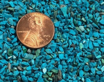Crushed Peruvian Chrysocolla - Large Sand - 100% Natural Stone Without Fillers
