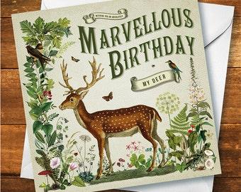 Happy Birthday My Deer Card