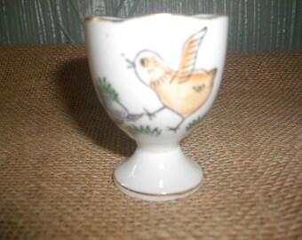 Vintage Bird Egg Cup