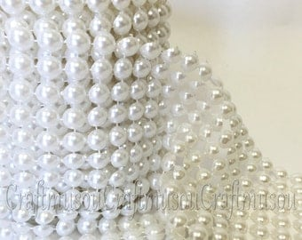 "Ivory Pearl (8mm) Mesh Wrap Roll Table Runner Prom Party Wedding Decoration 4.25"" (1yrd, 3yrd, 5yrd, 10yrd)"