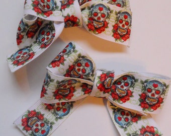 Sugar Skull Hair Clip/Bow