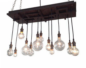 Mid Century Light, Modern Lighting, Modern Chandelier, Arts and Crafts Chandelier, Craftsman Lighting
