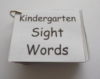 Kindergarten Sight Word Flash Cards, Laminated, Ready to Use, 100 Sight Words, High Frequency Words, Learn to Read, Reading Help, Original
