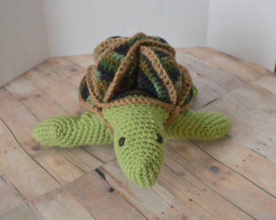 Amigurumi Puzzle Animals : Turtle Stuffed Animal Amamani Tortoise Amish Puzzle Ball